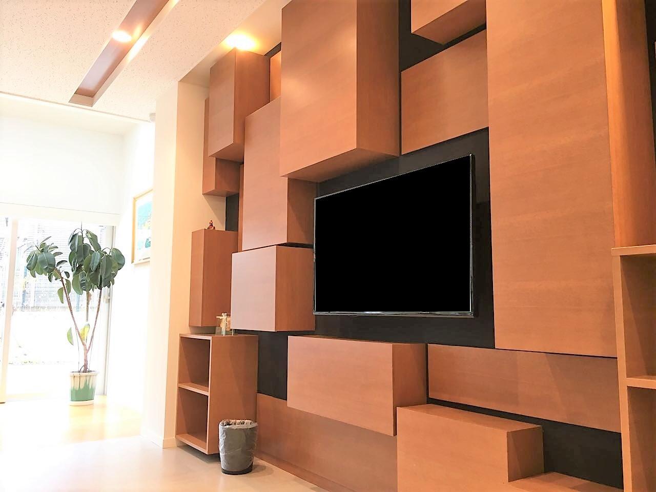 壁面収納 TVボード 飾り棚