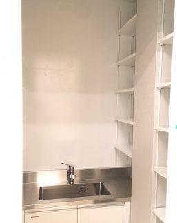 洗面収納オープン棚